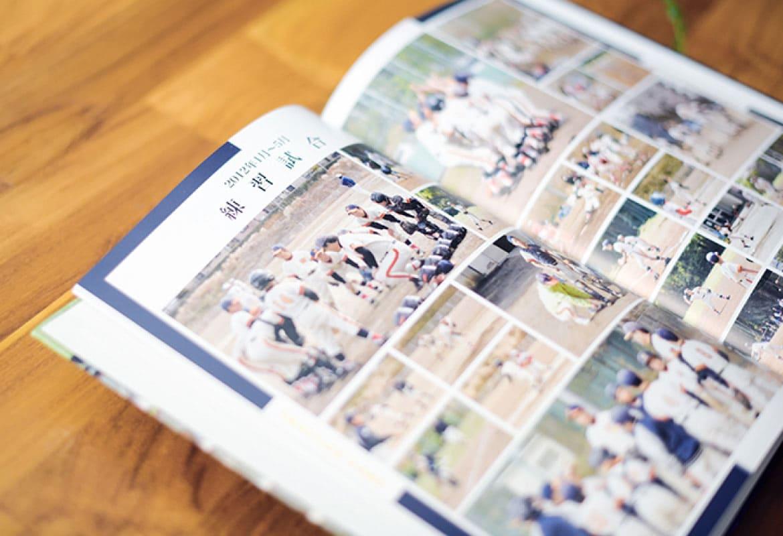高品質な印刷で作成したアルバムの見開き画像
